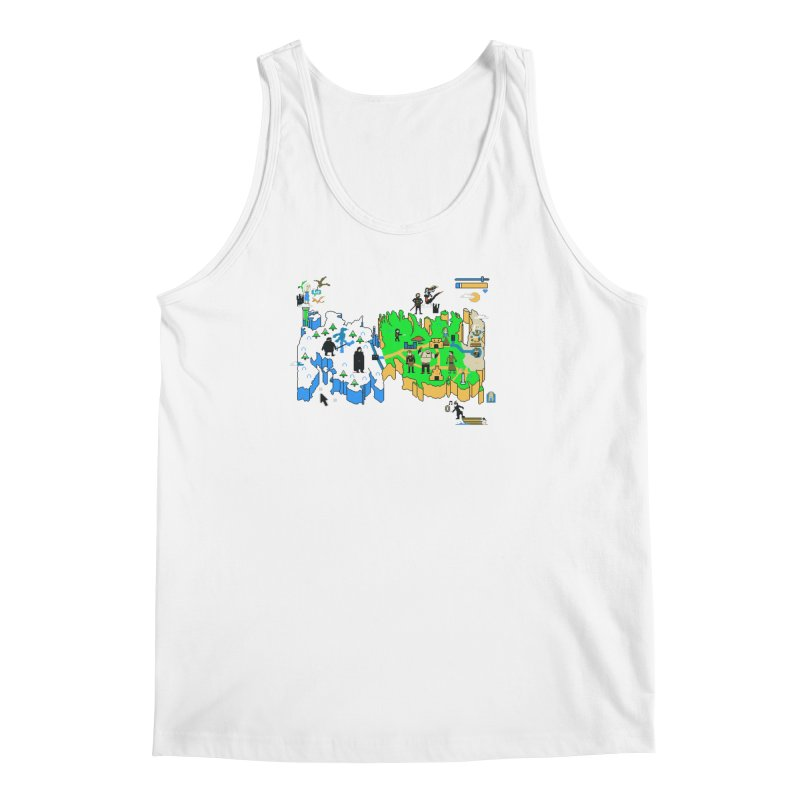 Game of Pixels Men's Regular Tank by Thomas Orrow