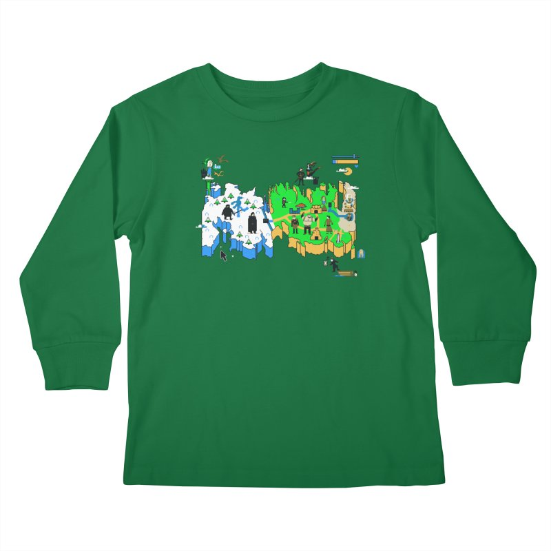 Game of Pixels Kids Longsleeve T-Shirt by Thomas Orrow