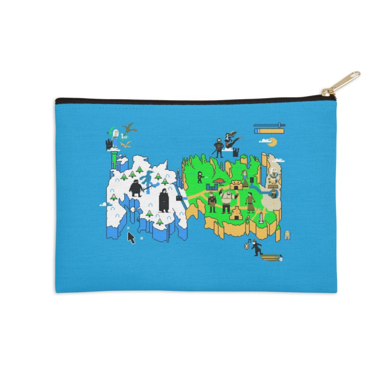 Game of Pixels Accessories Zip Pouch by Thomas Orrow