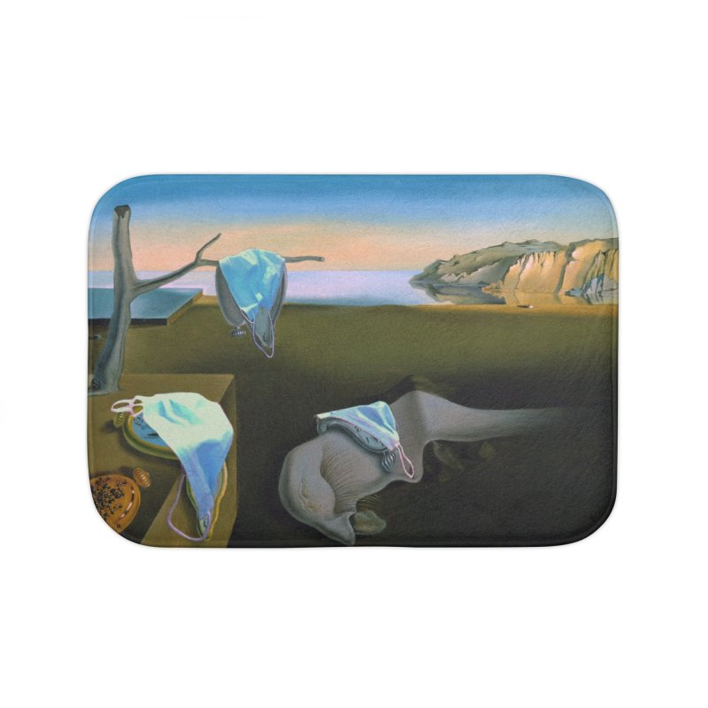 Dali's Suspension of Time Home Bath Mat by Thomas Orrow