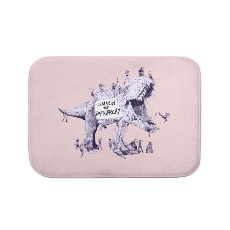 Smash the Patriarchy! (Pink Version) Home Bath Mat by Thomas Orrow