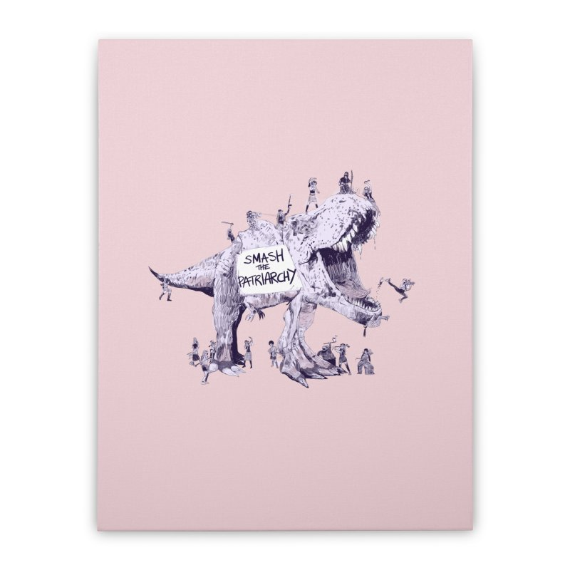 Smash the Patriarchy! (Pink Version) Home Stretched Canvas by Thomas Orrow