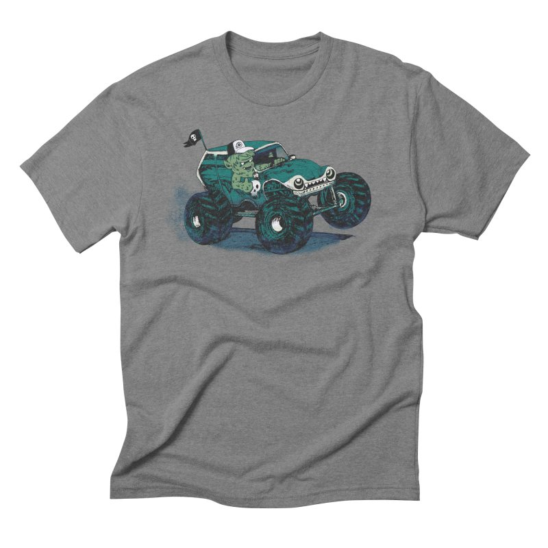 Monster Truckin' Men's Triblend T-shirt by Thomas Orrow