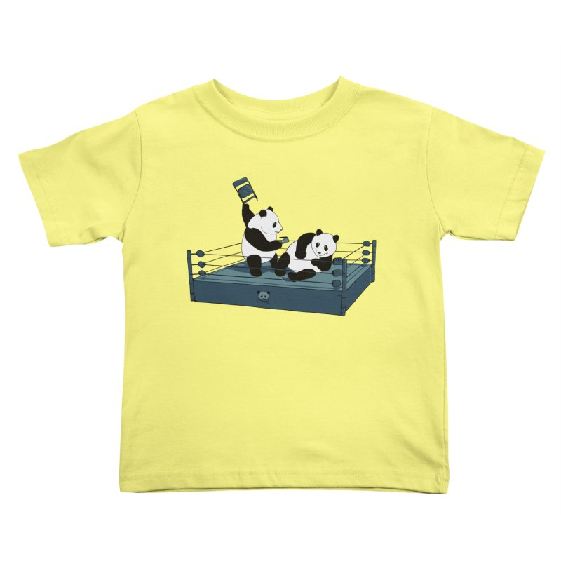 Pandamania Kids Toddler T-Shirt by Thomas Orrow