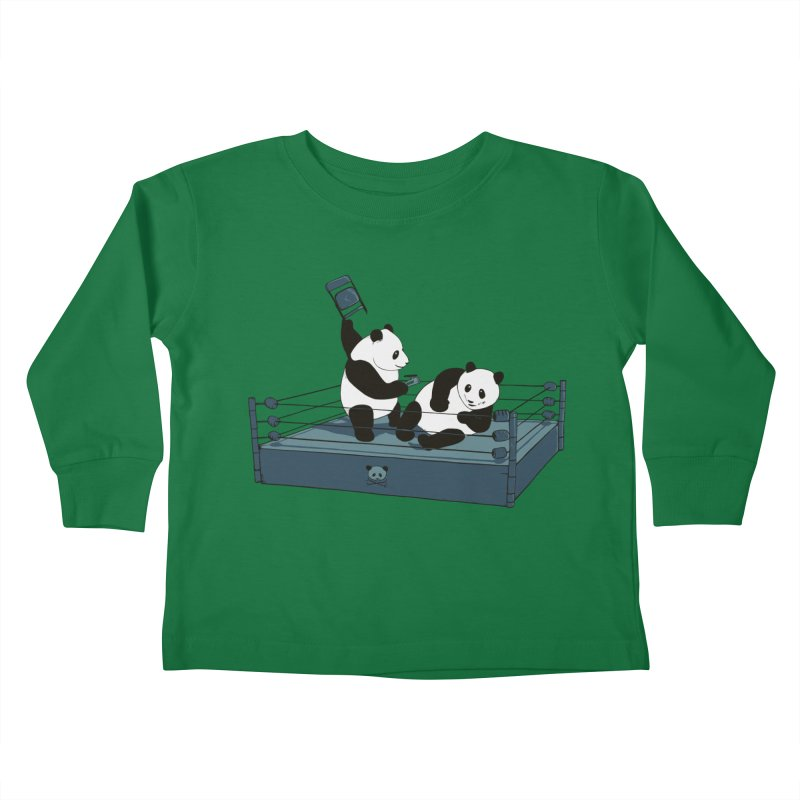 Pandamania Kids Toddler Longsleeve T-Shirt by Thomas Orrow