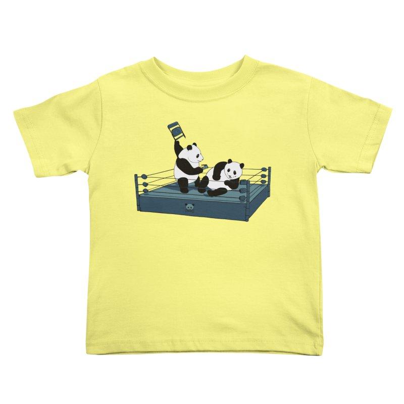 Pandamania Kids Toddler T-Shirt by Thomas Orrow