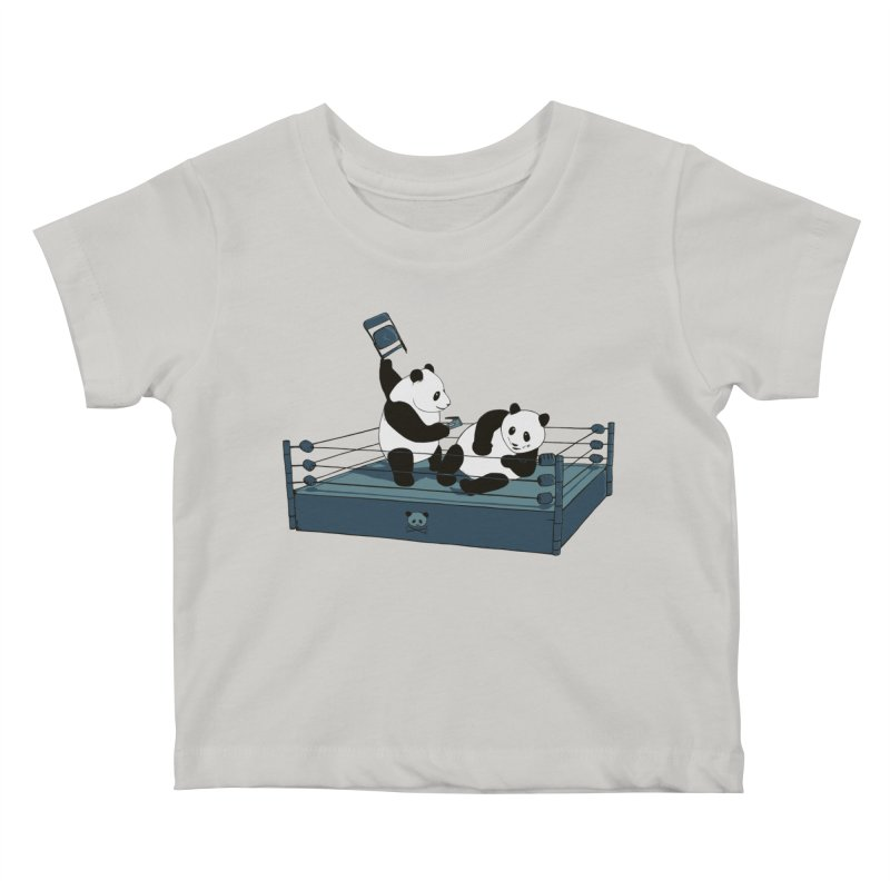 Pandamania Kids Baby T-Shirt by Thomas Orrow