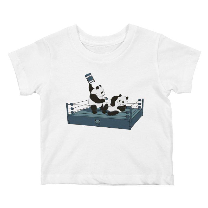Pandamania Kids Baby T-Shirt by Thomas Orrow