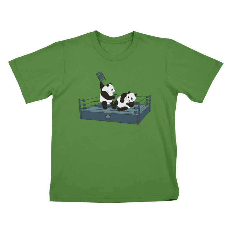 Pandamania Kids T-Shirt by Thomas Orrow