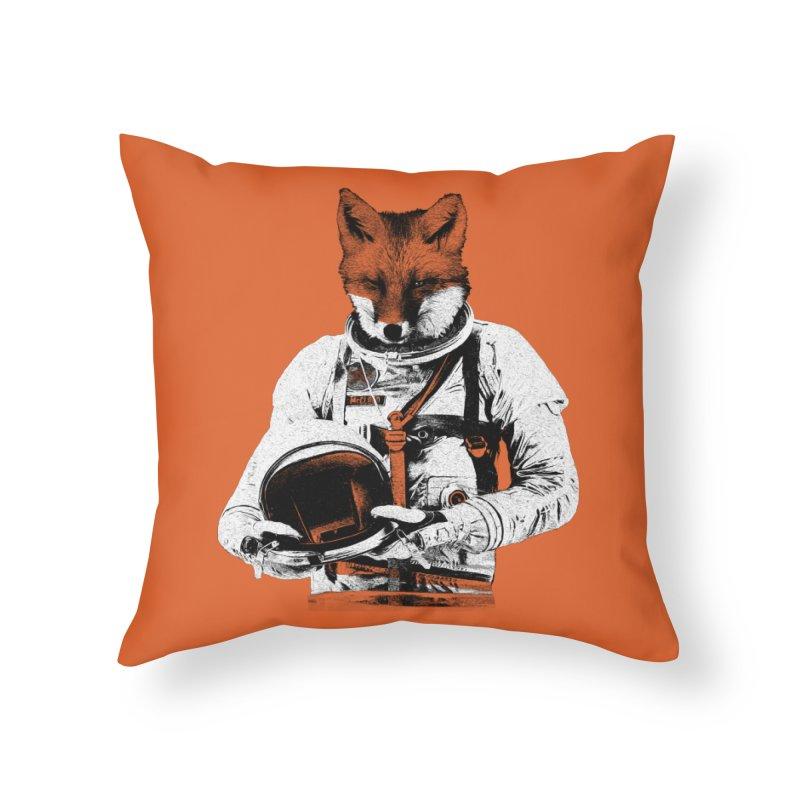 The Fastest Fox Home Throw Pillow by Thomas Orrow
