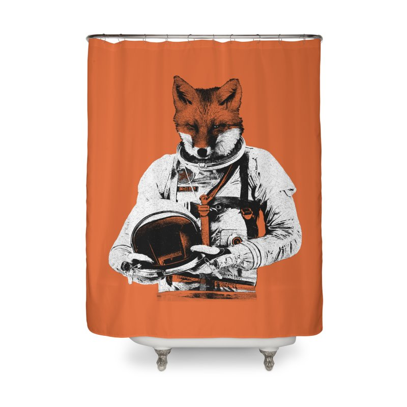 The Fastest Fox Home Shower Curtain by Thomas Orrow
