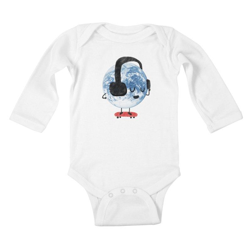 World Music Kids Baby Longsleeve Bodysuit by Thomas Orrow