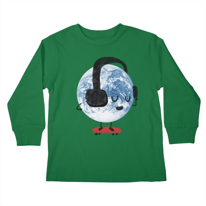 World Music Kids Longsleeve T-Shirt by Thomas Orrow