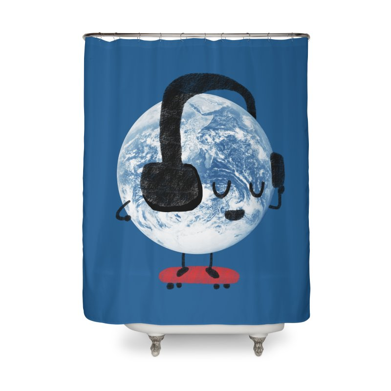 World Music Home Shower Curtain by Thomas Orrow
