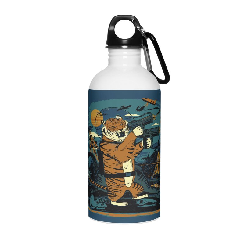 Death to the Dinosaurs Accessories Water Bottle by Thomas Orrow