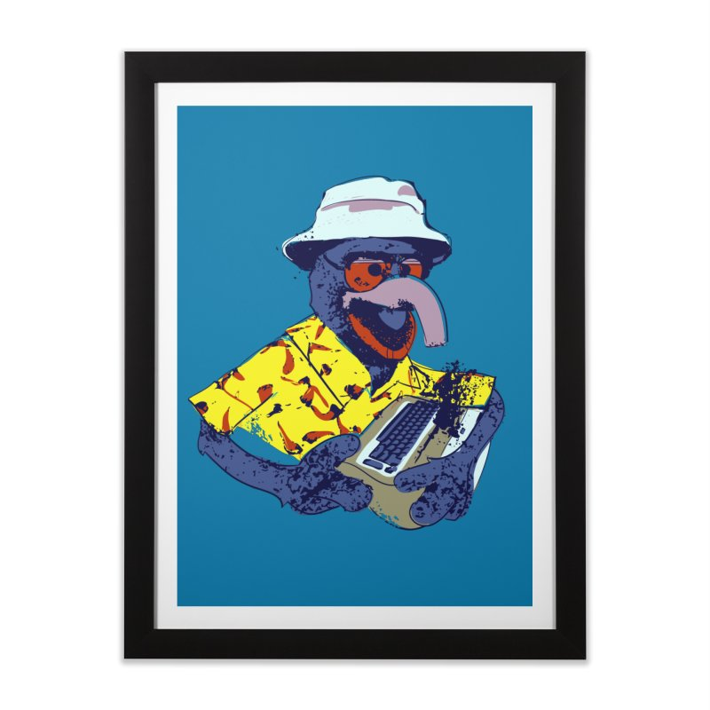 Gonzo Journalism Home Framed Fine Art Print by Thomas Orrow