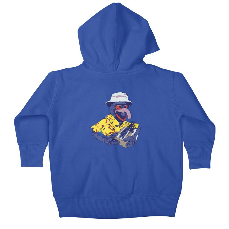 Gonzo Journalism Kids Baby Zip-Up Hoody by Thomas Orrow