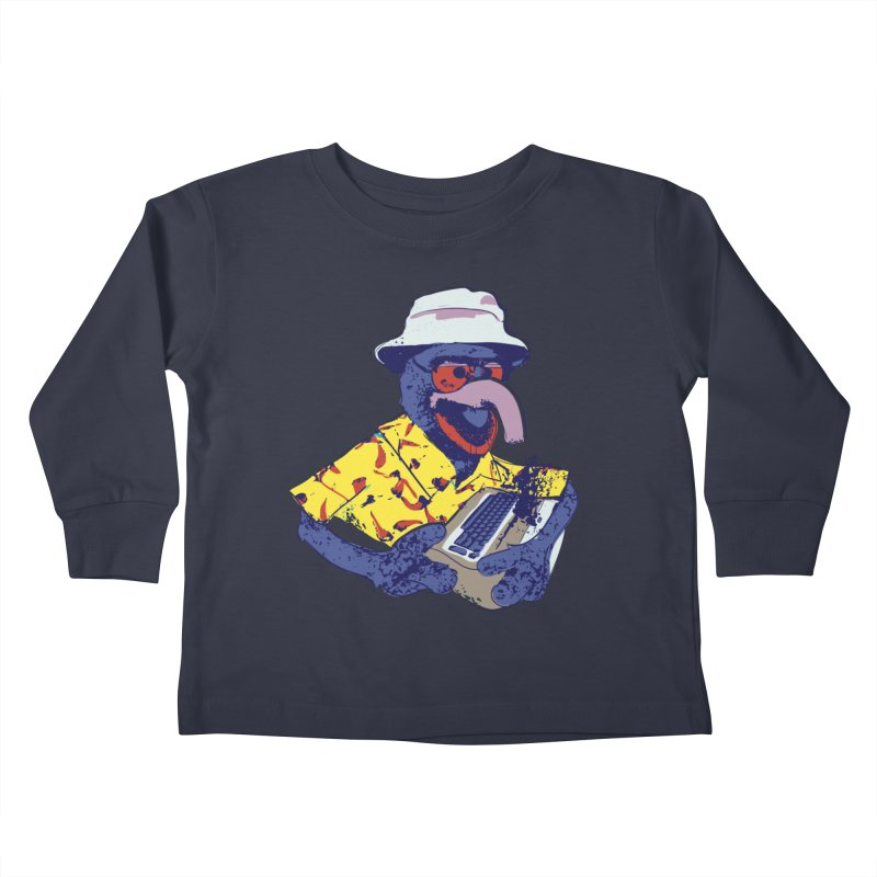 Gonzo Journalism Kids Toddler Longsleeve T-Shirt by Thomas Orrow