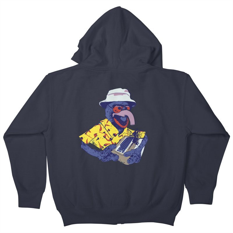 Gonzo Journalism Kids Zip-Up Hoody by Thomas Orrow
