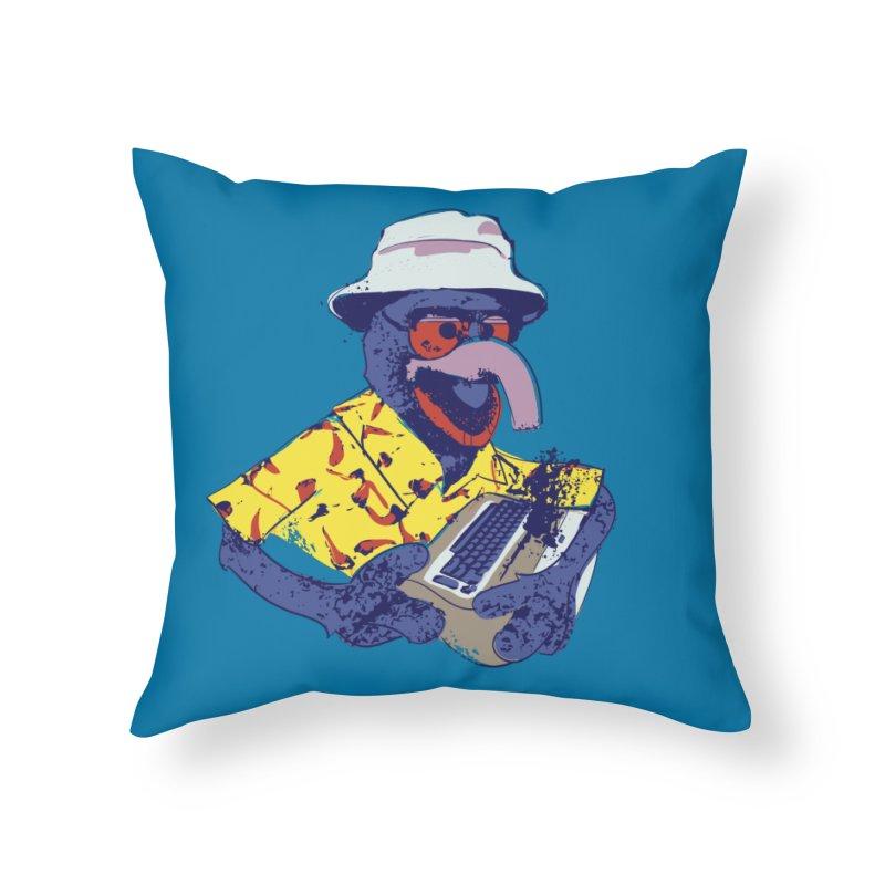 Gonzo Journalism Home Throw Pillow by Thomas Orrow