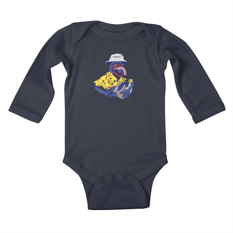 Gonzo Journalism Kids Baby Longsleeve Bodysuit by Thomas Orrow