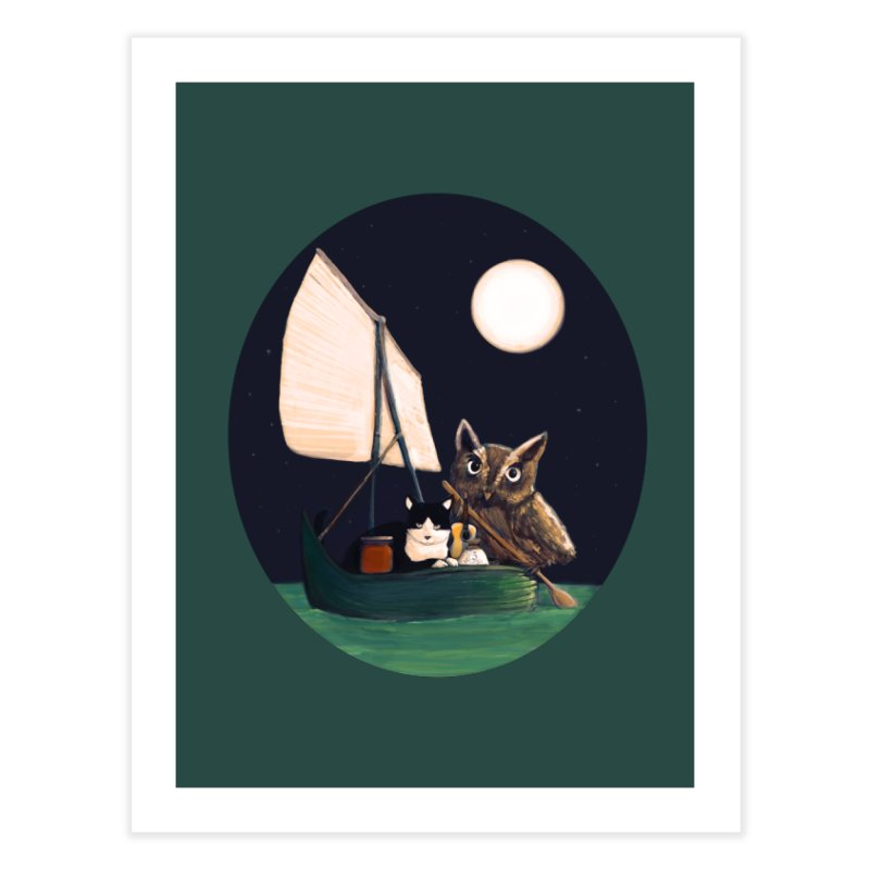 The Owl and the Pussycat Home Fine Art Print by Thomas Orrow