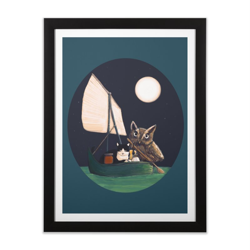 The Owl and the Pussycat Home Framed Fine Art Print by Thomas Orrow