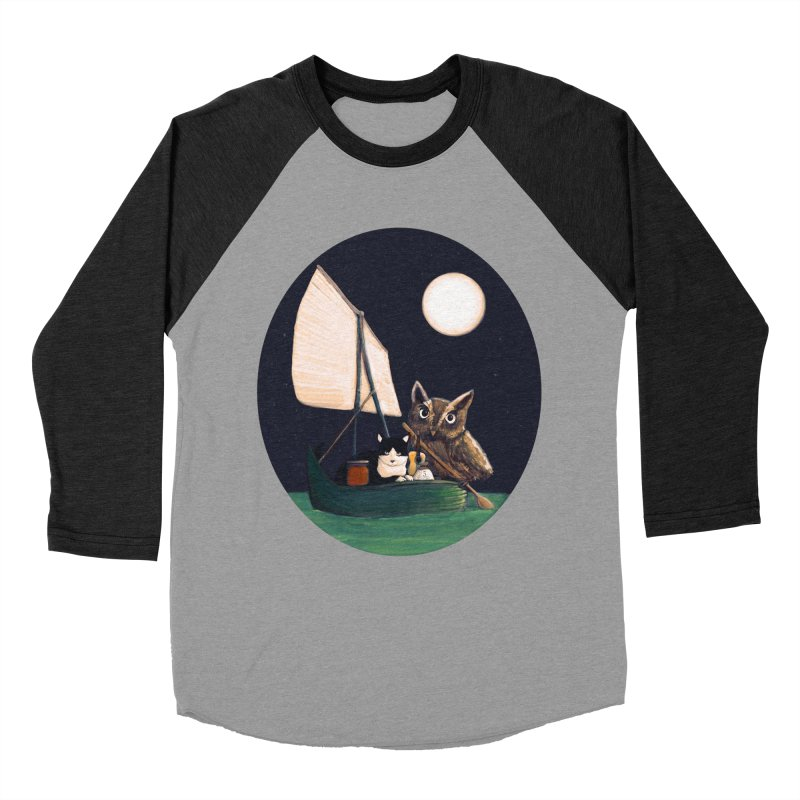 The Owl and the Pussycat Men's Baseball Triblend T-Shirt by Thomas Orrow