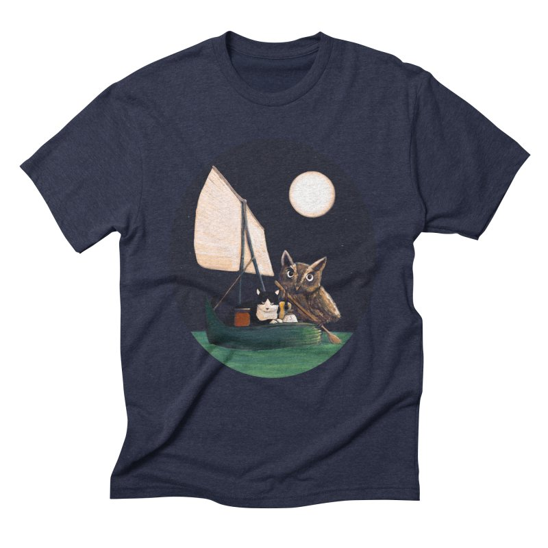 The Owl and the Pussycat Men's Triblend T-shirt by Thomas Orrow
