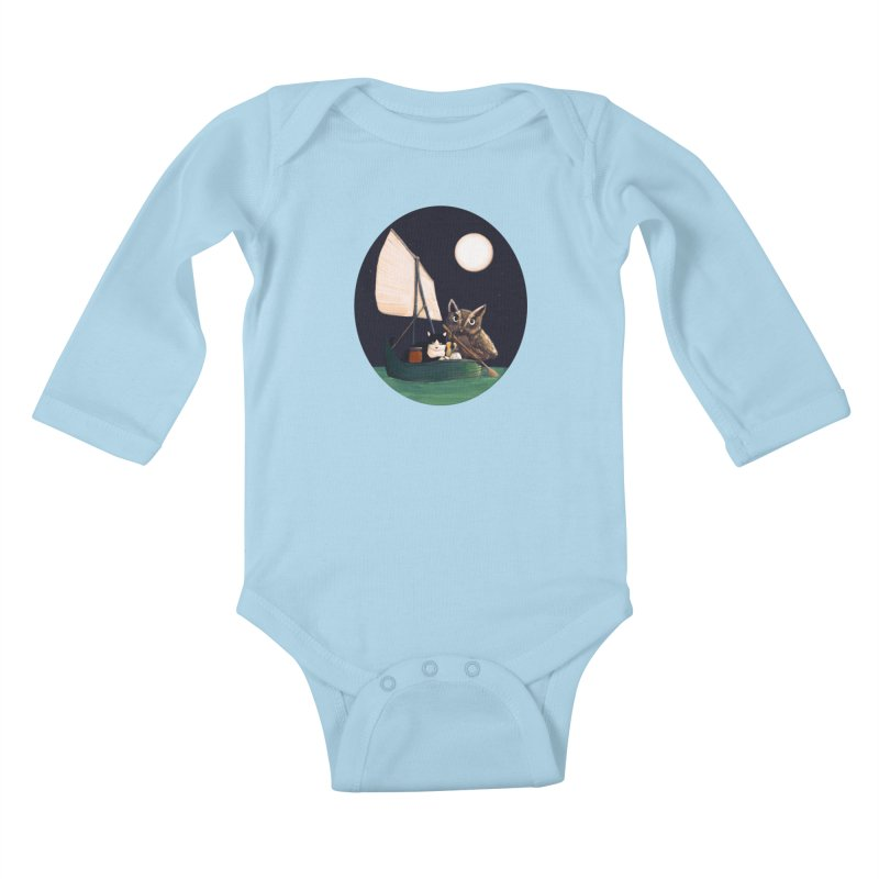 The Owl and the Pussycat Kids Baby Longsleeve Bodysuit by Thomas Orrow