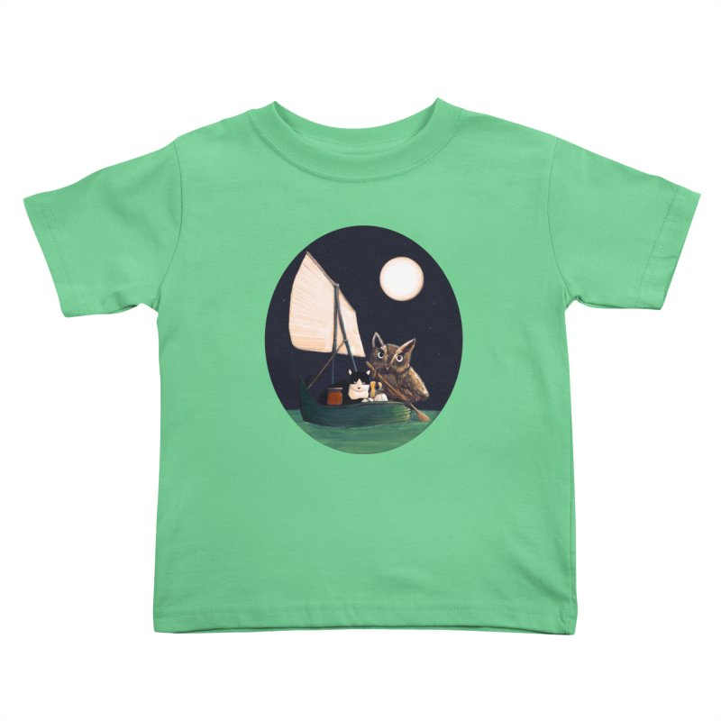 The Owl and the Pussycat Kids Toddler T-Shirt by Thomas Orrow