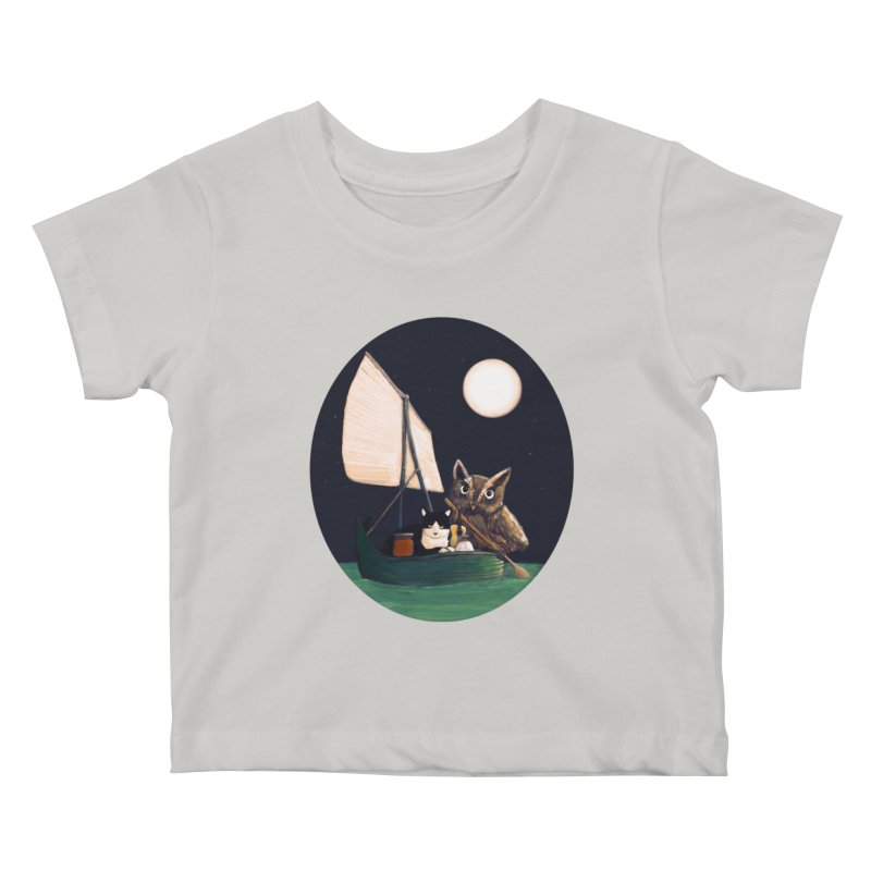 The Owl and the Pussycat Kids Baby T-Shirt by Thomas Orrow