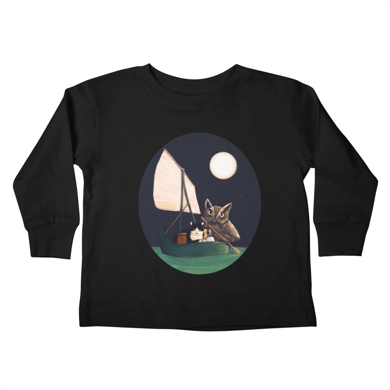 The Owl and the Pussycat Kids Toddler Longsleeve T-Shirt by Thomas Orrow