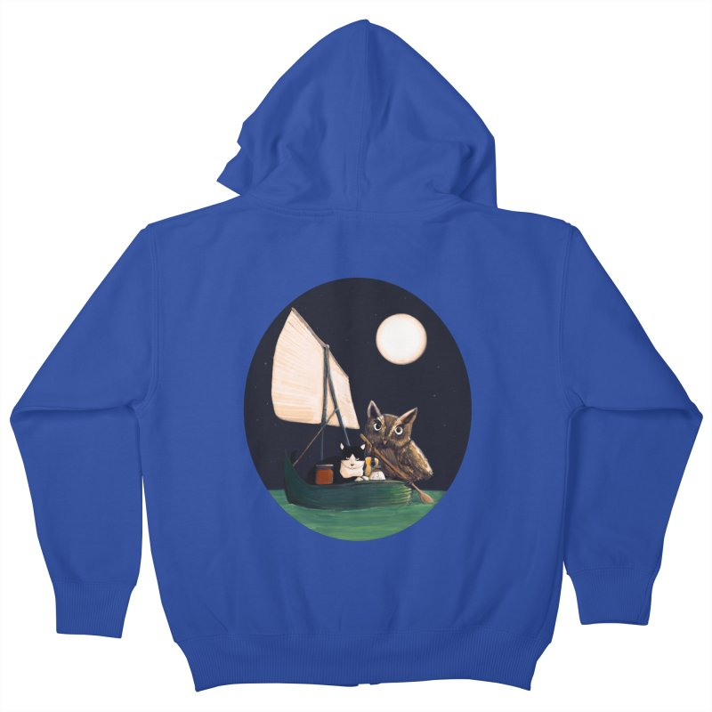 The Owl and the Pussycat Kids Zip-Up Hoody by Thomas Orrow