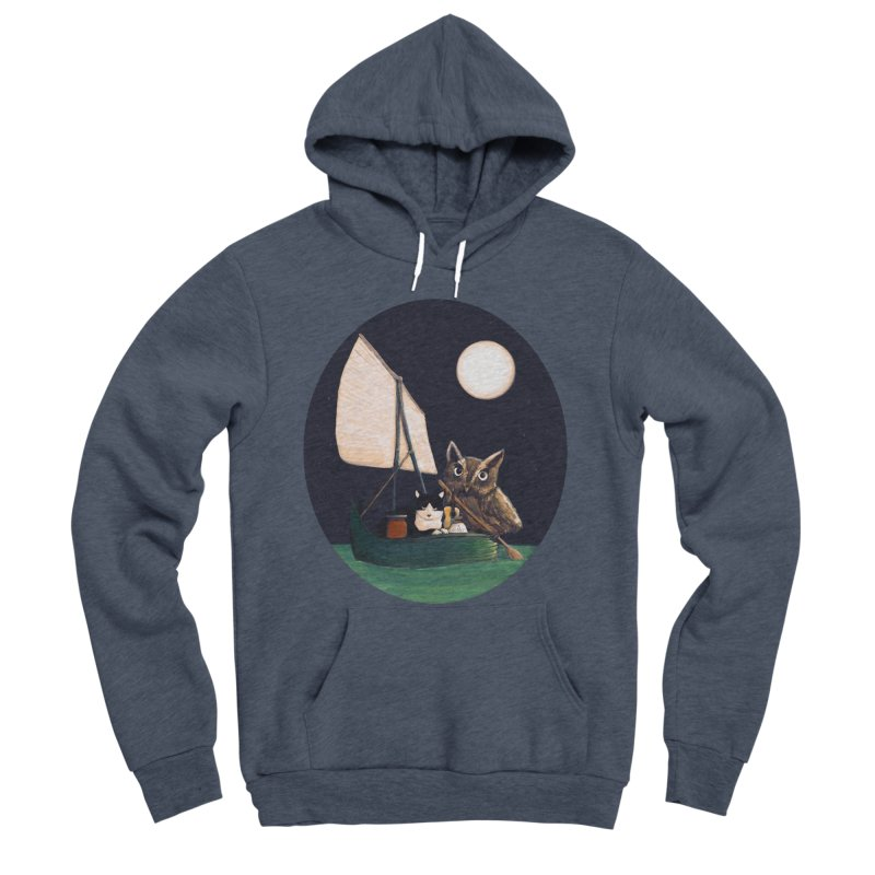 The Owl and the Pussycat Men's Sponge Fleece Pullover Hoody by Thomas Orrow