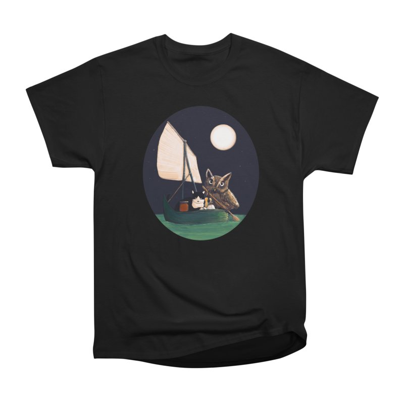 The Owl and the Pussycat Men's Heavyweight T-Shirt by Thomas Orrow