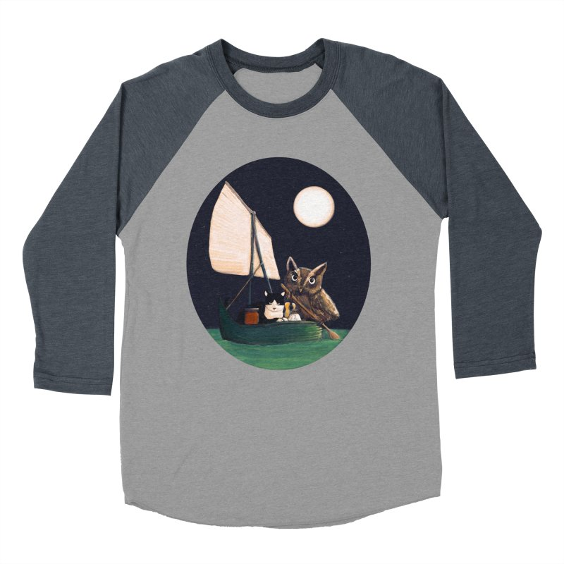 The Owl and the Pussycat Women's Baseball Triblend T-Shirt by Thomas Orrow