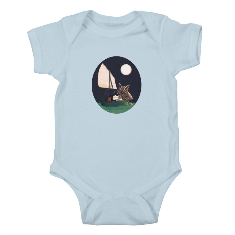 The Owl and the Pussycat Kids Baby Bodysuit by Thomas Orrow