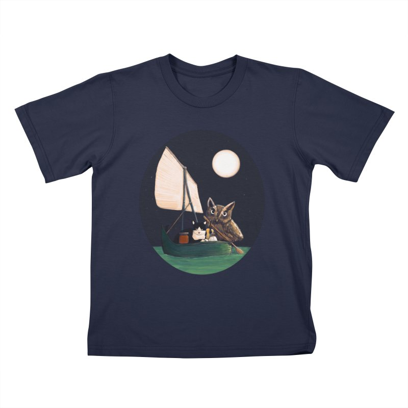 The Owl and the Pussycat Kids T-Shirt by Thomas Orrow