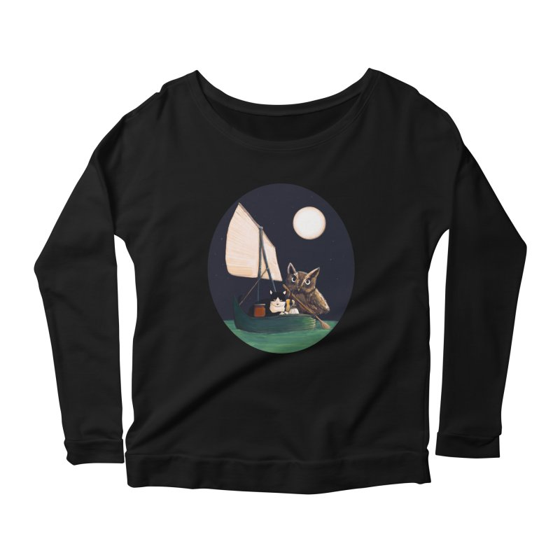 The Owl and the Pussycat Women's Longsleeve Scoopneck  by Thomas Orrow
