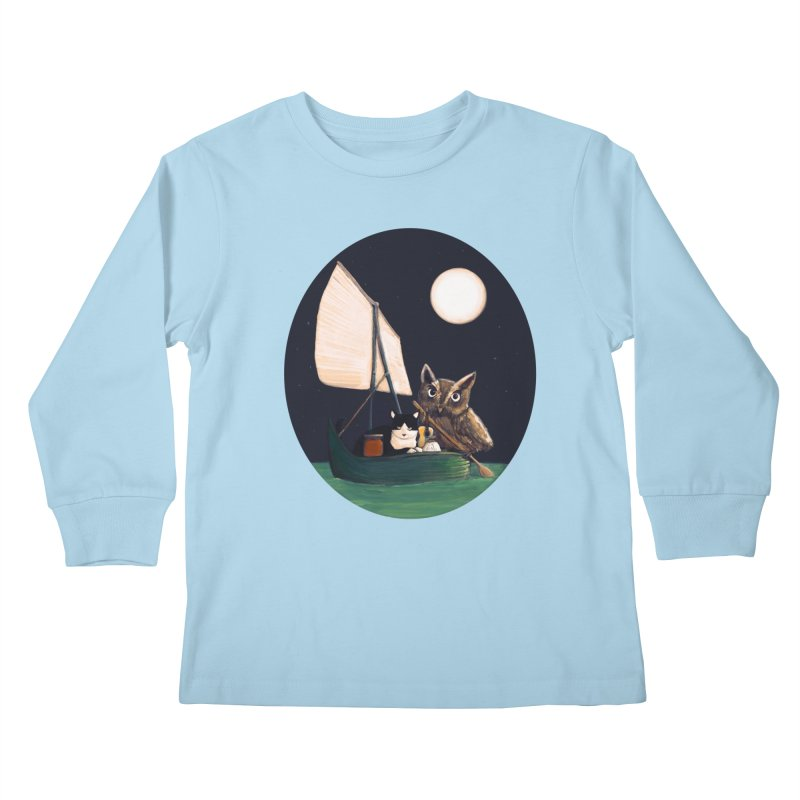 The Owl and the Pussycat Kids Longsleeve T-Shirt by Thomas Orrow