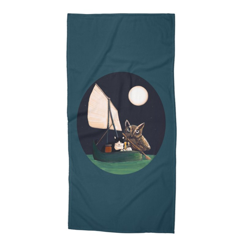 The Owl and the Pussycat Accessories Beach Towel by Thomas Orrow