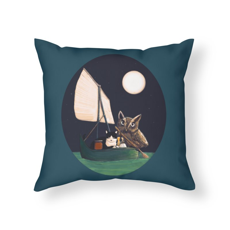 The Owl and the Pussycat Home Throw Pillow by Thomas Orrow