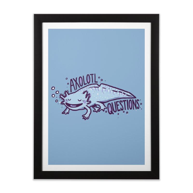 Axolotl Questions Home Framed Fine Art Print by Thomas Orrow