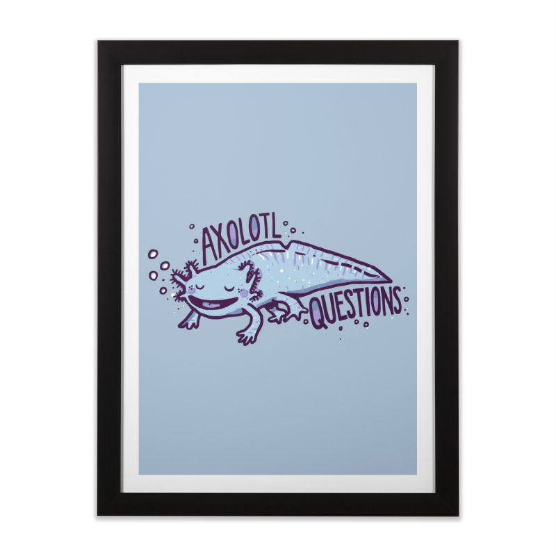 Axolotl Questions Home Framed Fine Art Print by Thomas Orrow