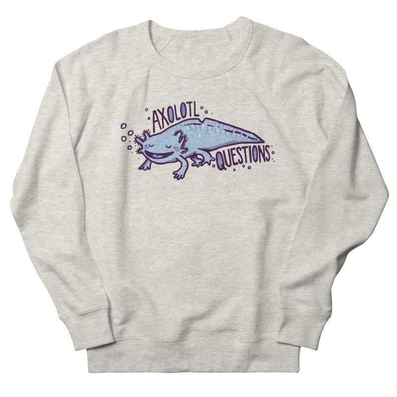 Axolotl Questions Men's Sweatshirt by Thomas Orrow