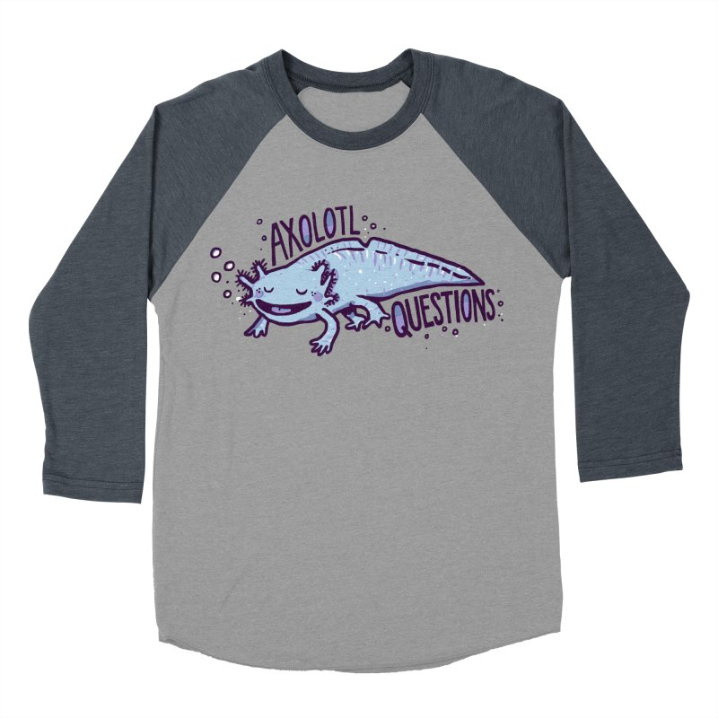Axolotl Questions Men's Baseball Triblend T-Shirt by Thomas Orrow