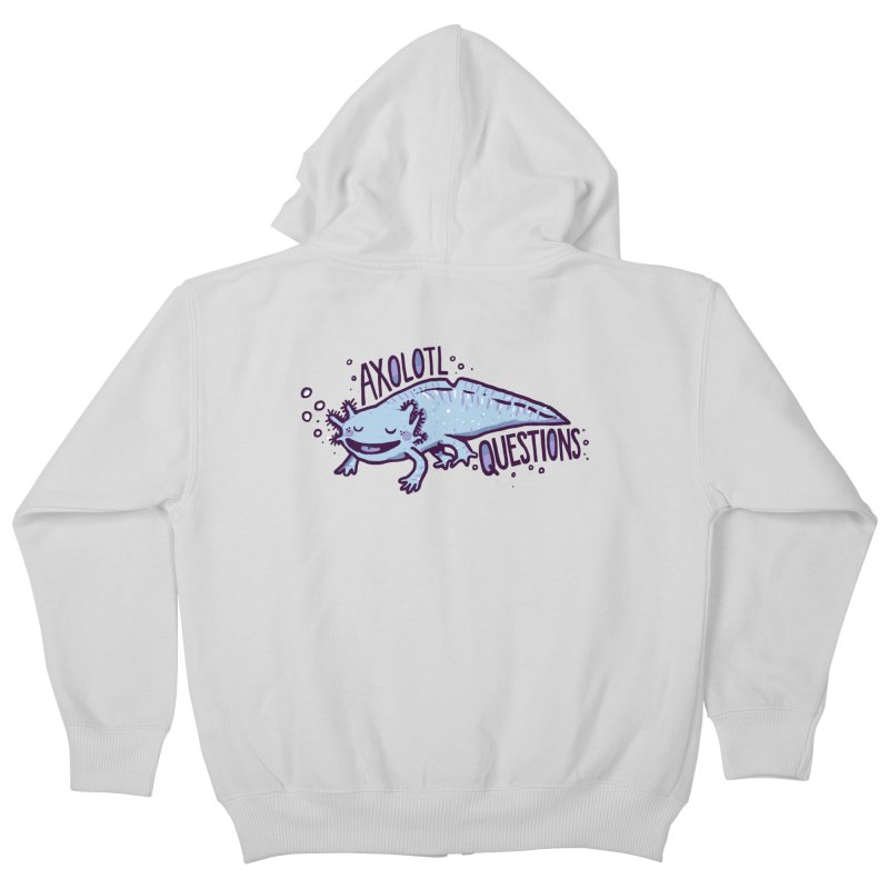 Axolotl Questions Kids Zip-Up Hoody by Thomas Orrow