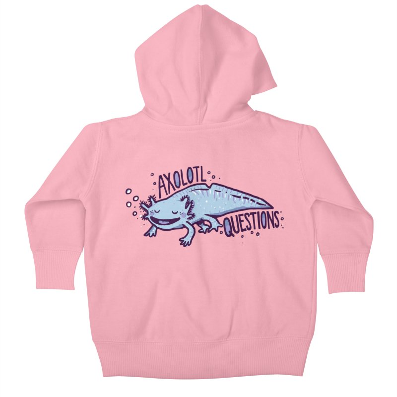 Axolotl Questions Kids Baby Zip-Up Hoody by Thomas Orrow