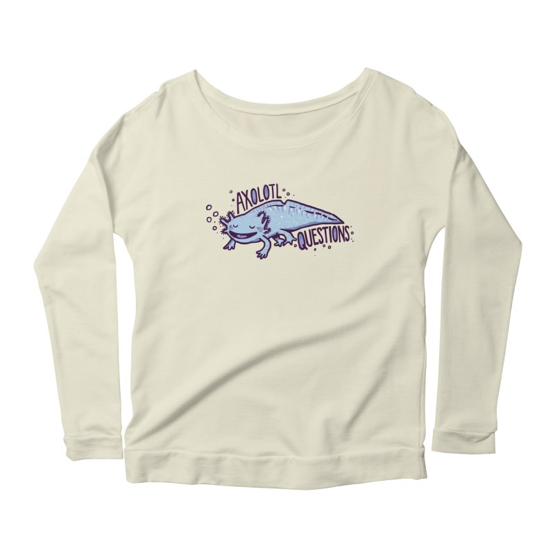 Axolotl Questions Women's Longsleeve Scoopneck  by Thomas Orrow